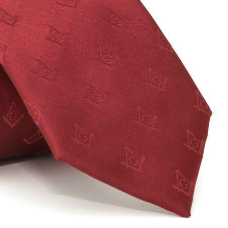 gravata-com-desenho-maconaria-em-poliester-vermelha-textura-large