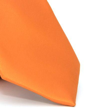 gravata-com-desenho-liso-em-poliester-laranja