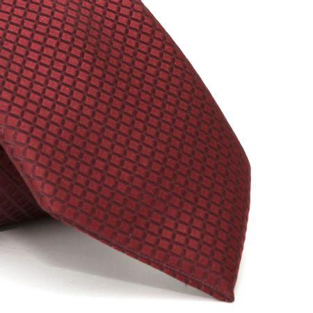 Gravata-com-desenho-xadrez-em-poliester-Vermelha-textura-smal