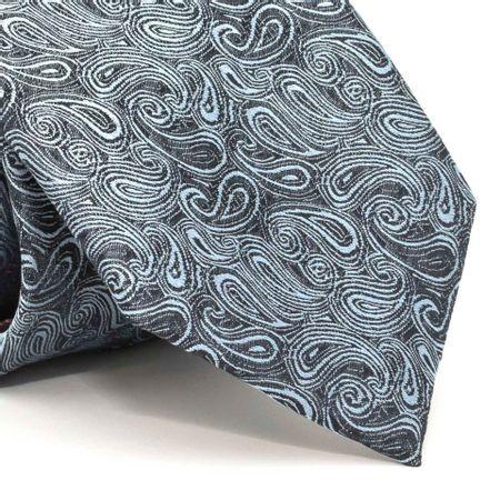 Gravata-com-desenho-cashmere-em-poliester-Cinza-textura-medium