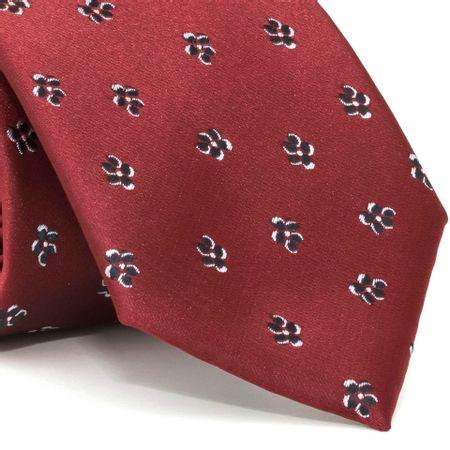 Gravata-com-desenho-floral-em-poliester-Vermelha-textura-large-1