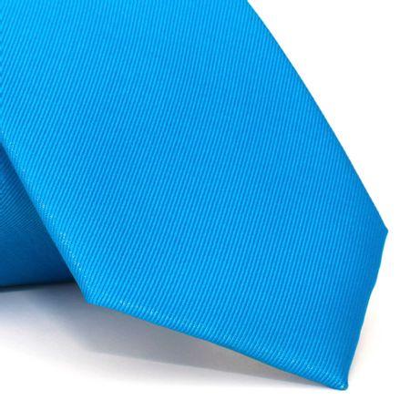 Gravata-com-desenho-falso-liso-em-poliester-Azul-textura-small-5