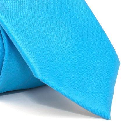 Gravata-com-desenho-liso-em-poliester-Azul