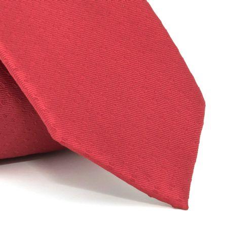 Gravata-com-desenho-falso-liso-em-poliester-Vermelha-textura-small-2