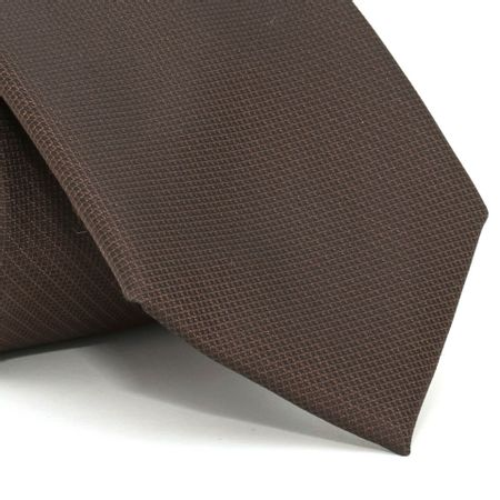 Gravata-com-desenho-falso-liso-em-poliester-Marrom-textura-small