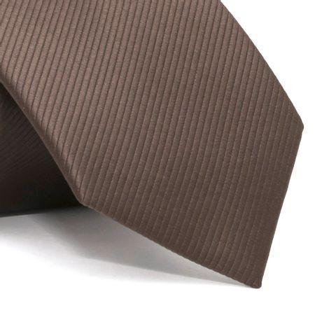 Gravata-com-desenho-falso-liso-em-poliester-Marrom-textura-small-2