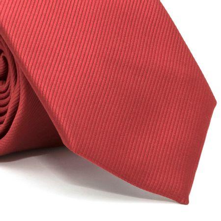 Gravata-com-desenho-falso-liso-em-poliester-Vermelha-textura-small-1