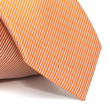 Gravata-com-desenho-listrado-em-poliester-Laranja-textura-small