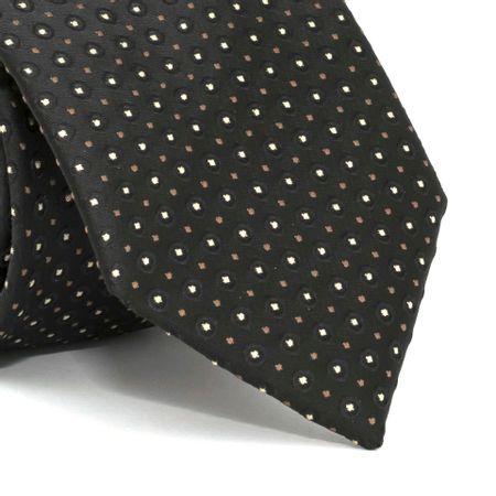 Gravata-com-desenhos-geometricos-em-poliester-Preta-textura-medium-1