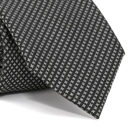 Gravata-com-desenhos-geometricos-em-poliester-Preta-textura-small-1