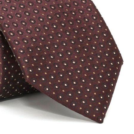 Gravata-com-desenhos-geometricos-em-poliester-Vermelha-textura-medium-1