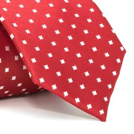 Gravata-com-desenhos-geometricos-em-poliester-Vermelha-textura-small-3