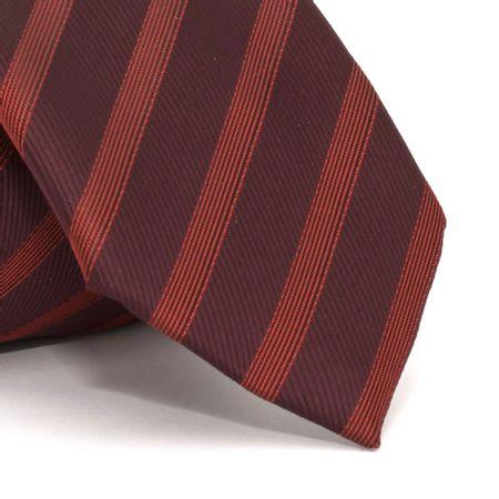 Gravata-com-desenho-listrado-em-poliester-Vermelha-textura
