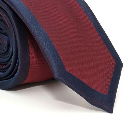 Gravata-slim-com-desenho-centralizado-em-poliester-Vermelha