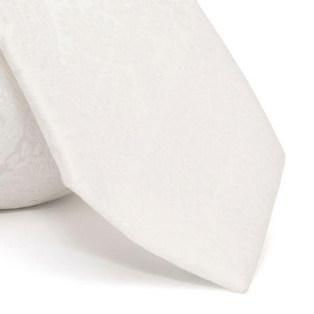 Gravata-cerimonial-com-desenho-cashmere-em-poliester-Branca-textura-large