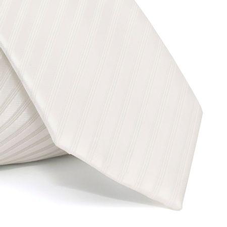 Gravata-cerimonial-com-desenho-listrado-em-poliester-Branca-textura-medium