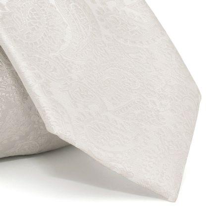 Gravata-cerimonial-com-desenho-cashmere-em-poliester-Cinza-textura-large
