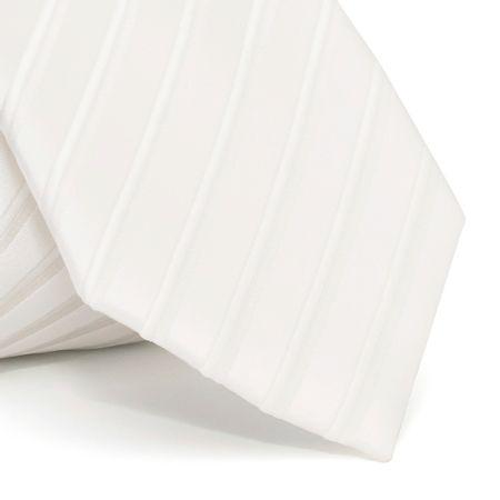 Gravata-cerimonial-com-desenho-listrado-em-poliester-Branca-textura-large