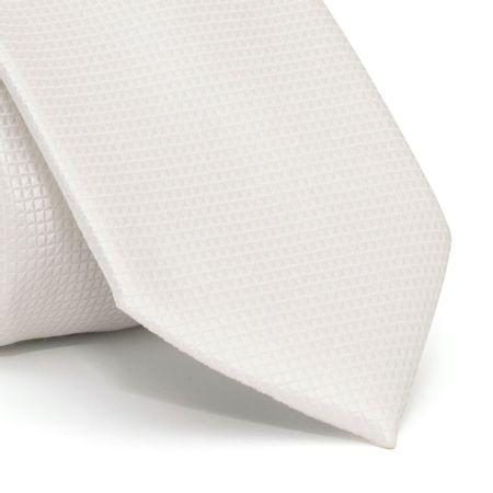 Gravata-cerimonial-com-desenho-falso-liso-em-poliester-Branca-textura-small-1