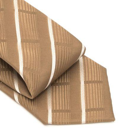 Gravata-com-no-pronto-desenho-listrado-em-poliester-Marrom-textura-large