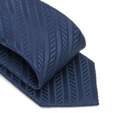 veja-mais-fotos-Gravata-com-no-pronto-desenho-listrado-em-poliester-Azul-textura-large