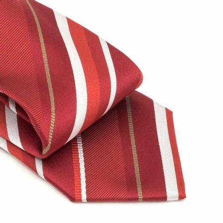 Gravata-com-no-pronto-desenho-listrado-em-poliester-Vermelha-textura-large-3