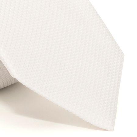 Gravata-com-desenho-falso-liso-em-seda-pura-Branca-textura-small