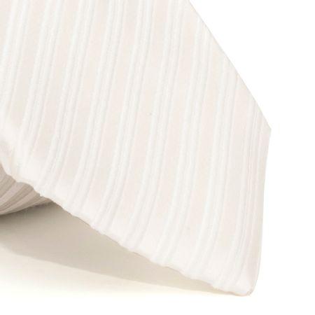Gravata-com-desenho-listrado-em-seda-pura-Branca-textura-medium