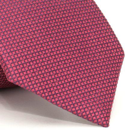 Gravata-com-desenhos-geometricos-em-seda-pura-Vermelha-textura-small-1