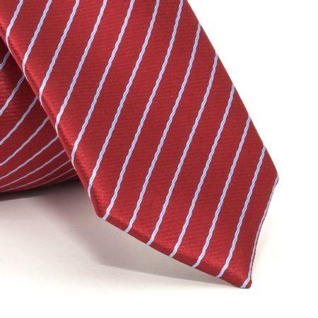 Gravata-Super-Slim-com-desenho-listrado-em-poliester-Vermelha-textura-small-1