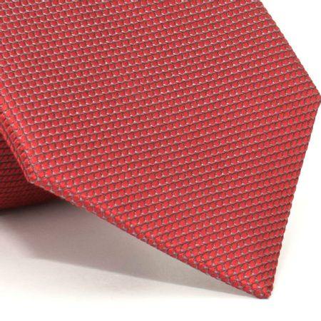 Gravata-com-desenho-falso-liso-em-seda-pura-Vermelha-textura-small-2