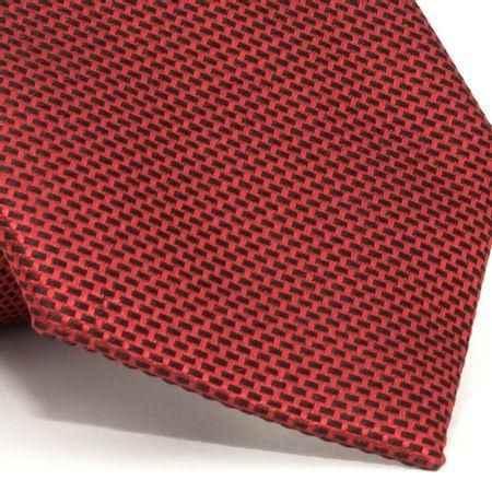 Gravata-com-desenhos-geometricos-em-seda-pura-Vermelha-textura-small-2