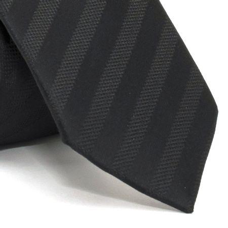 Gravata-Slim-com-desenho-listrado-em-poliester-Preta-textura-large