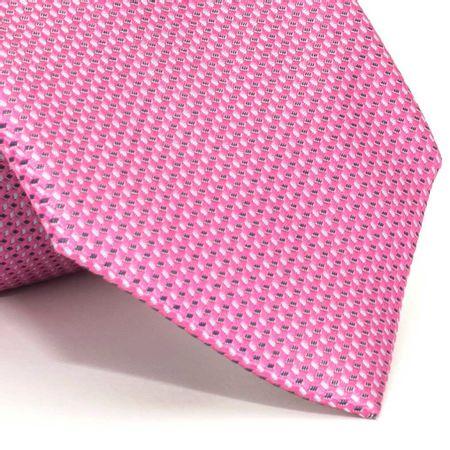 Gravata-com-desenhos-geometricos-em-seda-pura-rosa-textura-small-2