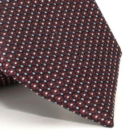 Gravata-com-desenhos-geometricos-em-seda-pura-Vermelha-textura-medium-2