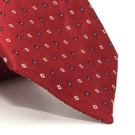 Gravata-com-desenhos-geometricos-em-seda-pura-vermelha-textura-medium-1