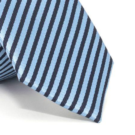 Gravata-Slim-com-desenho-listrado-em-poliester-Azul-textura-medium-3
