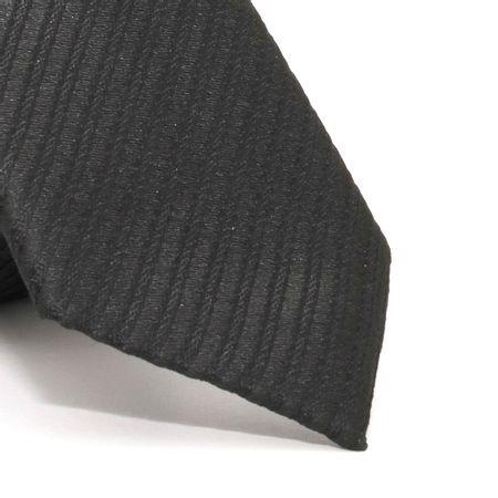 Gravata-Slim-com-desenho-listrado-em-poliester-Preta-textura-small