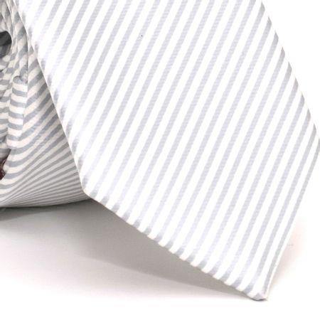 Gravata-Slim-com-desenho-listrado-em-poliester-Cinza-textura-small