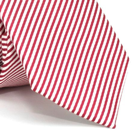 Gravata-Slim-com-desenho-listrado-em-poliester-Vermelha-textura-small