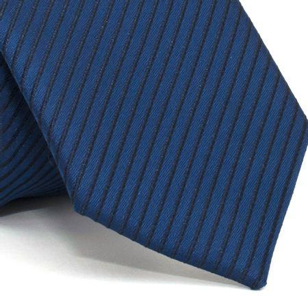 Gravata-Slim-com-desenho-listrado-em-poliester-Azul-textura-small