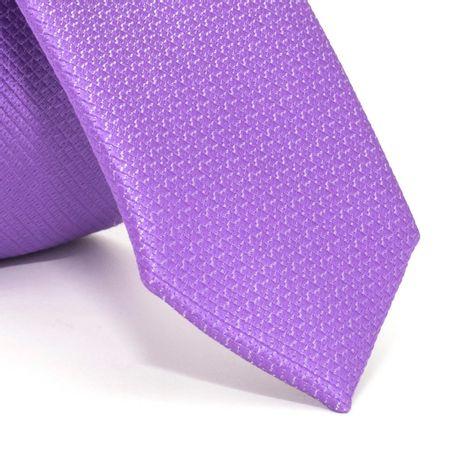 Gravata-Super-Slim-com-desenhos-geometricos-em-poliester-Roxa-textura-small-2