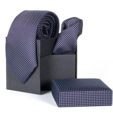 Gravata-com-lenco-e-caixinha-desenhos-geometricos-em-poliester-Roxa-textura-small