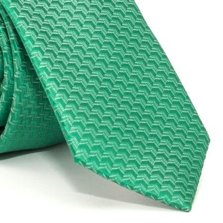 Gravata-Slim-com-desenhos-geometricos-em-poliester-verde-textura-medium