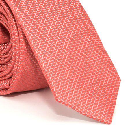 gravata-super-slim-com-desenhos-geometricos-em-poliester-laranja-textura-small