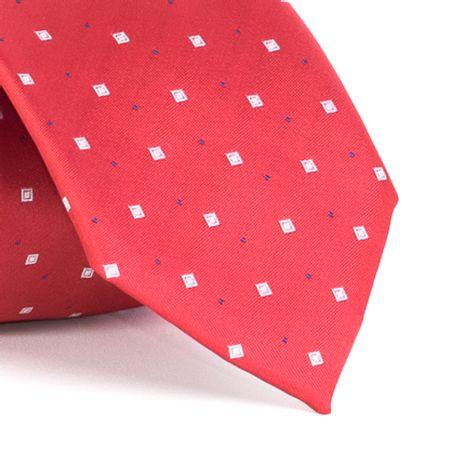 Gravata-com-desenhos-geometricos-em-poliester-Vermelha-textura-large-1