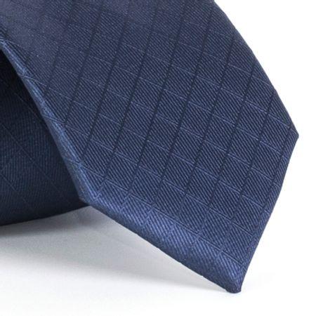 Gravata-com-desenho-xadrez-em-poliester-Azul-textura-medium