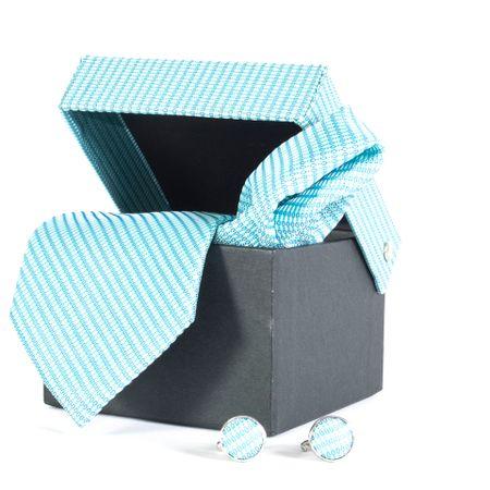 Gravata-com-lenco-abotoadura-e-caixinha-desenhos-geometricos-em-poliester-Azul-textura-small-1