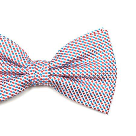 Gravata-borboleta-com-desenhos-geometricos-em-poliester-Vermelha-textura-small-2