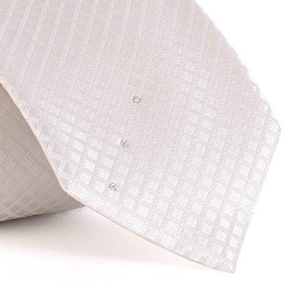 Gravata-com-desenhos-geometricos-em-seda-pura-swarovski-Branca-textura-medium-1